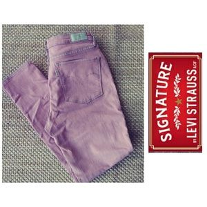 Levi Signature Acid Wash Pink Ankle Jegging 29